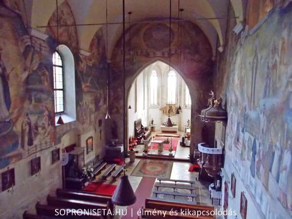 A Pálos templom és kolostor Sopronbánfalva felett