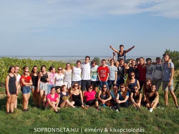 A Fertő-tó felett a fertőmeggyesi kilátónál