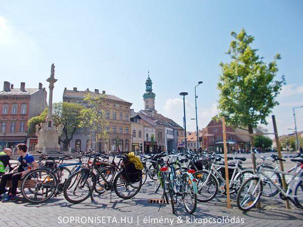 Sopron - Várkerület. Indulás Sopronból a Fertő-tó irányába kerékpárral.