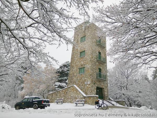Soproni kirándulás télen, Károly-magaslat havasan